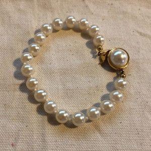 "7"" Single Strand Faux Pearl Bracelet"